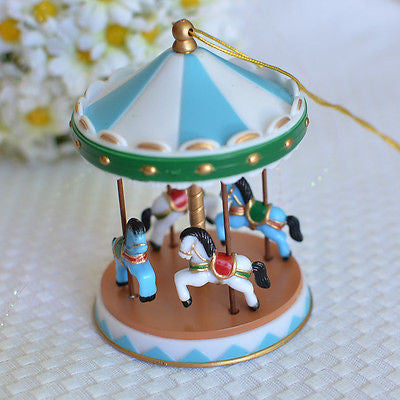 Blue Circus Carousel Cake Topper for Baby Showers, Birthdays Vintage Carnival- Le Petit Pain