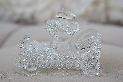 Vintage Hand Blown Glass Classic Car Figurine High Quality- Le Petit Pain