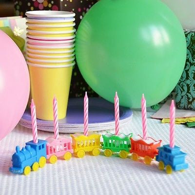 Vintage Animal Train Candleholder Set Cake Topper Birthday Shower Pink Candles- Le Petit Pain