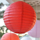 "3 Round Asian Style Chinese Round Lanterns 12"" Hanging Multi Color"