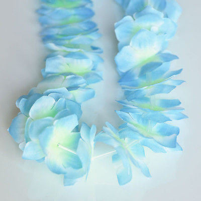 Nani Pua Lei Light Sky Blue Flower Lei Luau Necklace Favor Hula Nautical Beach- Le Petit Pain