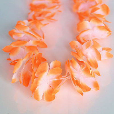 Nani Pua Lei Orange Flower Lei Lay White Luau Necklace Favor Hula- Le Petit Pain