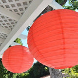 "2 Round Asian Style Chinese Round Lanterns 16"" Hanging Multi Color XL"