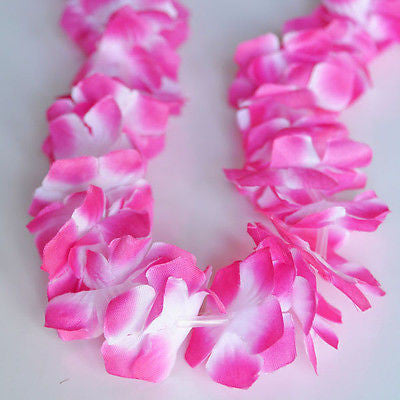 Nani Pua Lei Violet Pink Purple  Flower Lei Luau Necklace Favor Hula