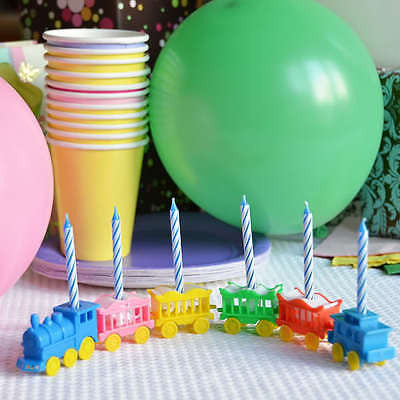 Vintage Animal Train Candleholder Set Cake Topper Birthday Shower Blue Candles- Le Petit Pain