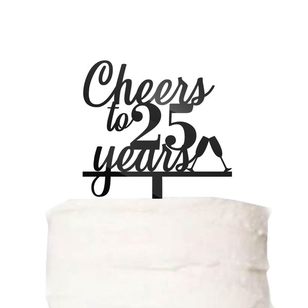 Custom Cheers to Years Cake Topper Wedding Work Anniversary Birthday Cake Topper