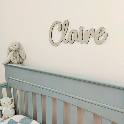"Custom Baby Nursery Name Sign Wooden Baby Sign Hanging Wall Sign Wood 18""- Le Petit Pain"
