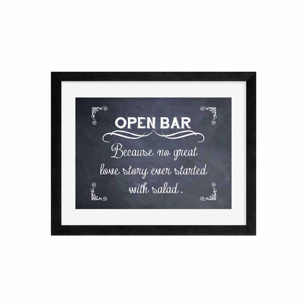 Open Bar Wedding Sign Funny Wedding Sign Decor Alcohol Bar Decoration Print Only- Le Petit Pain