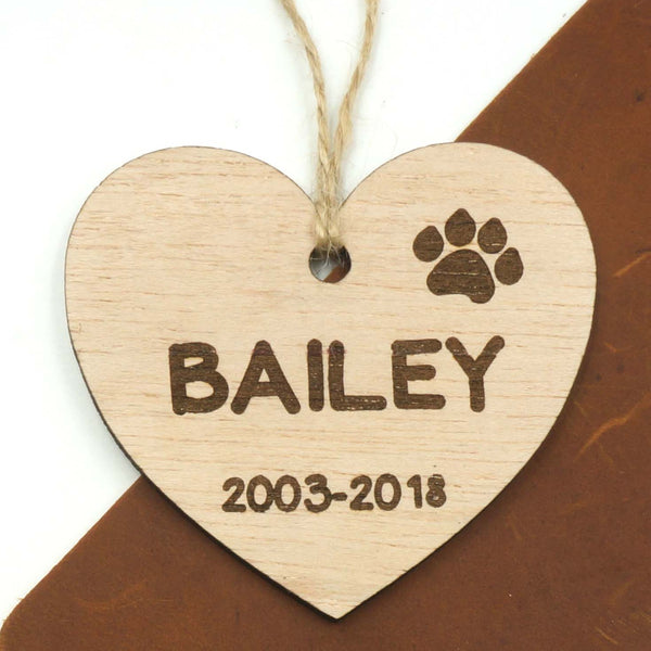 Custom Personalized Pet Memorial Dog Ornament Pets Loss Memory Keepsake- Le Petit Pain