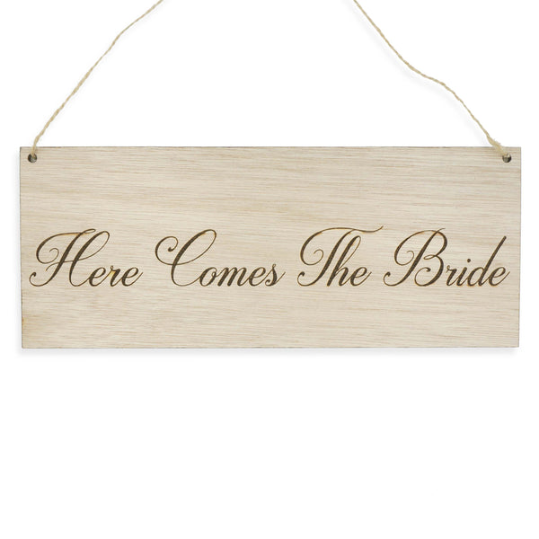 Here Comes the Bride Wedding Signage Wooden Sign for Pets Dogs Children Laser Engraved- Le Petit Pain