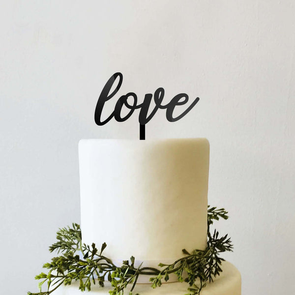 Love Wedding Cake Topper