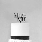 Mr and Mr Wedding Cake Topper Groom and Groom Gay Premium Cake Topper- Le Petit Pain