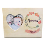 Custom Personalized Baby Birth Announcement Photo Frame Baby Girl Floral Water Color