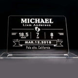 Custom Personalized Baby Birth Announcement Plaque with Base Name Date Weight- Le Petit Pain