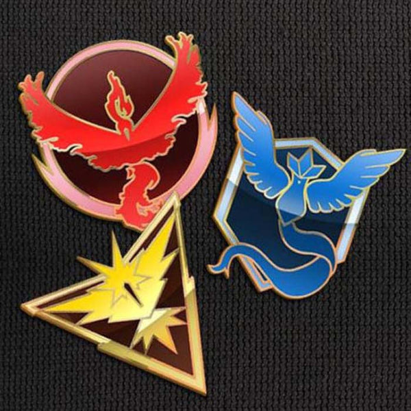 Team Mystic Valor Instinct Pins Set for Backpacks Pokemon Go Leadership Lapel Clothes Pins- Le Petit Pain