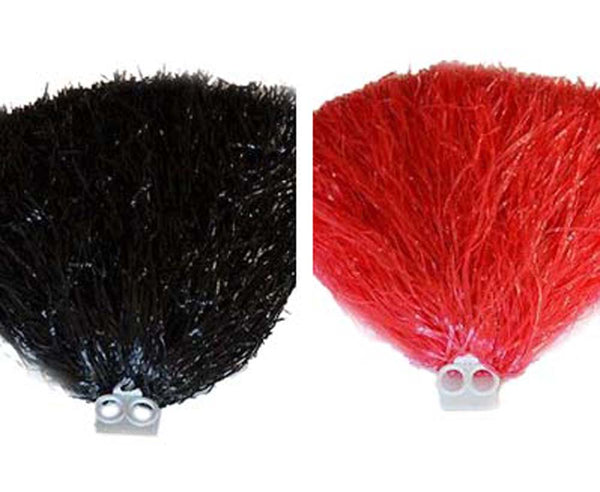 1 Pair (2) Multi Purpose Pom Poms Cheerleading or Party Gear! Red or Black