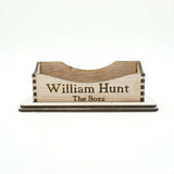 Custom Personalized Business Cards Holder Office Desk Organization Storage Supplies