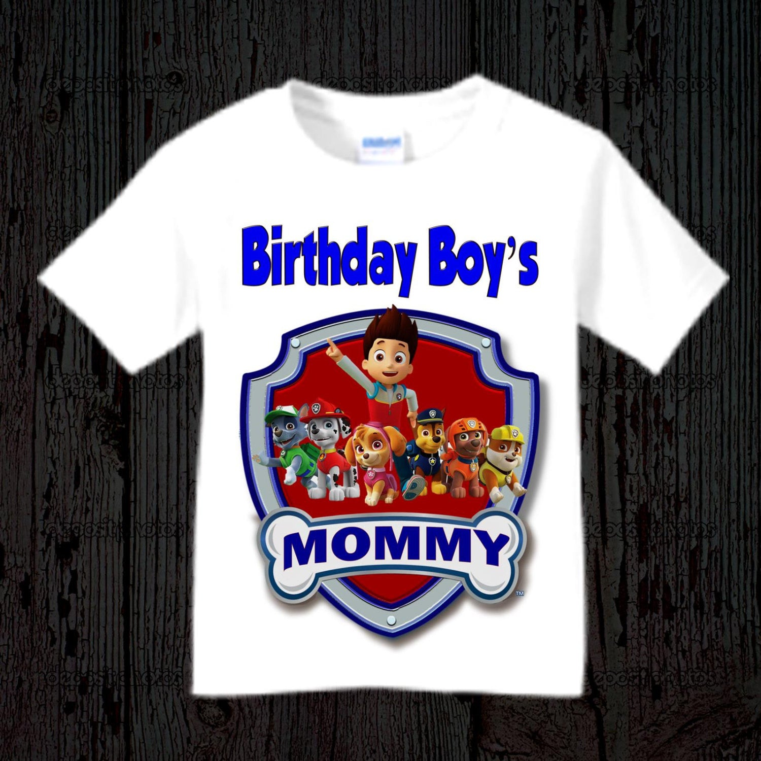 Paw Patrol Birthday Mom Shirt