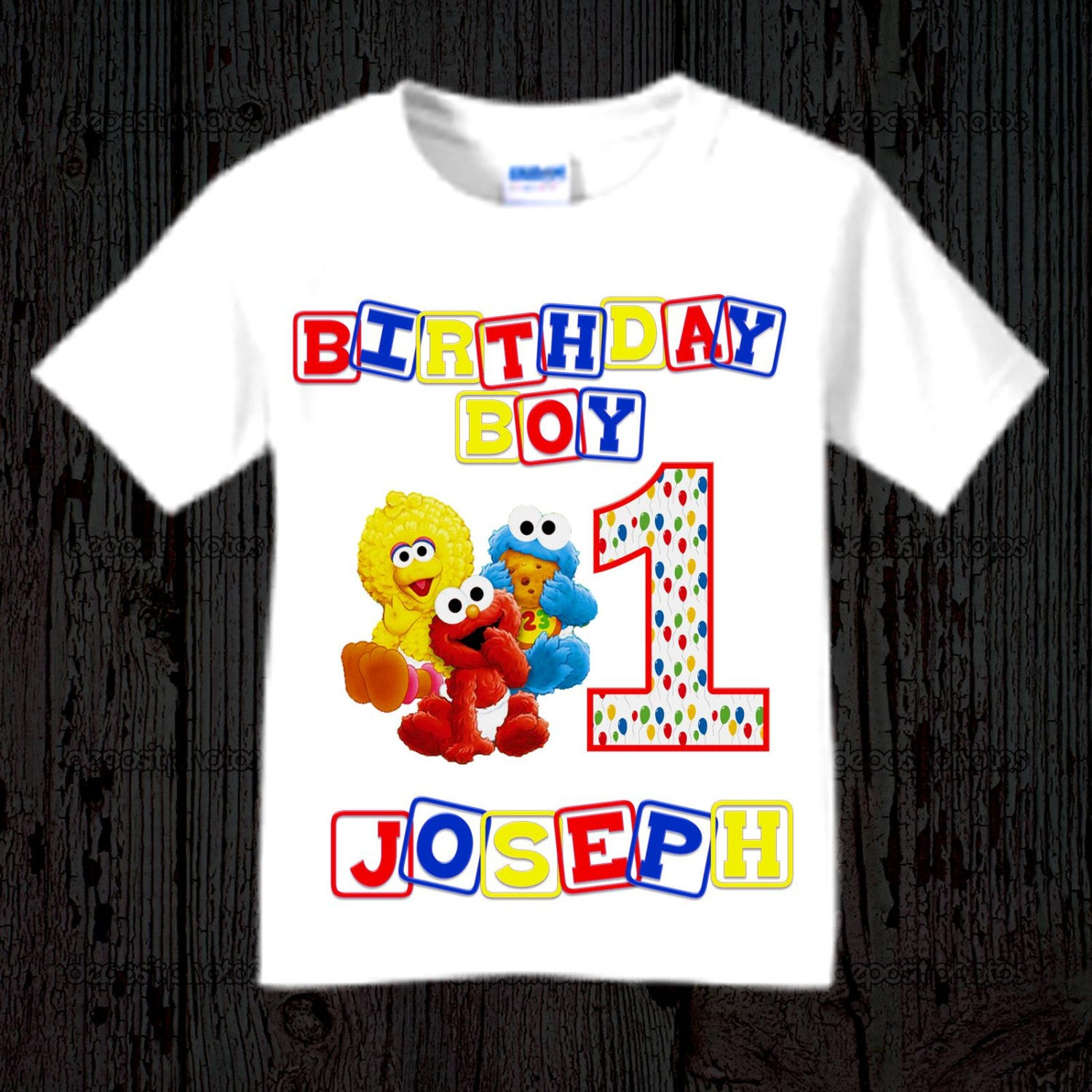 87e939142 Sesame Street First Birthday Shirt - Sesame Street Birthday Shirt ...
