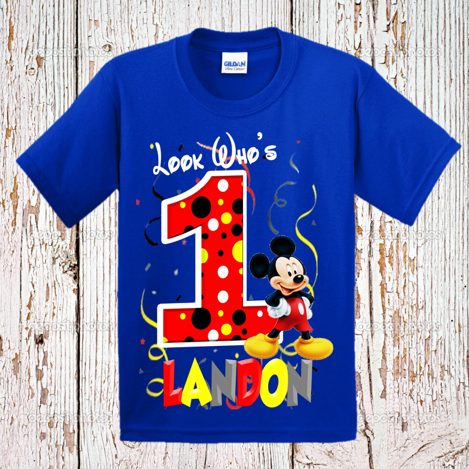 Personalized Mickey Mouse Birthday Shirts For Family
