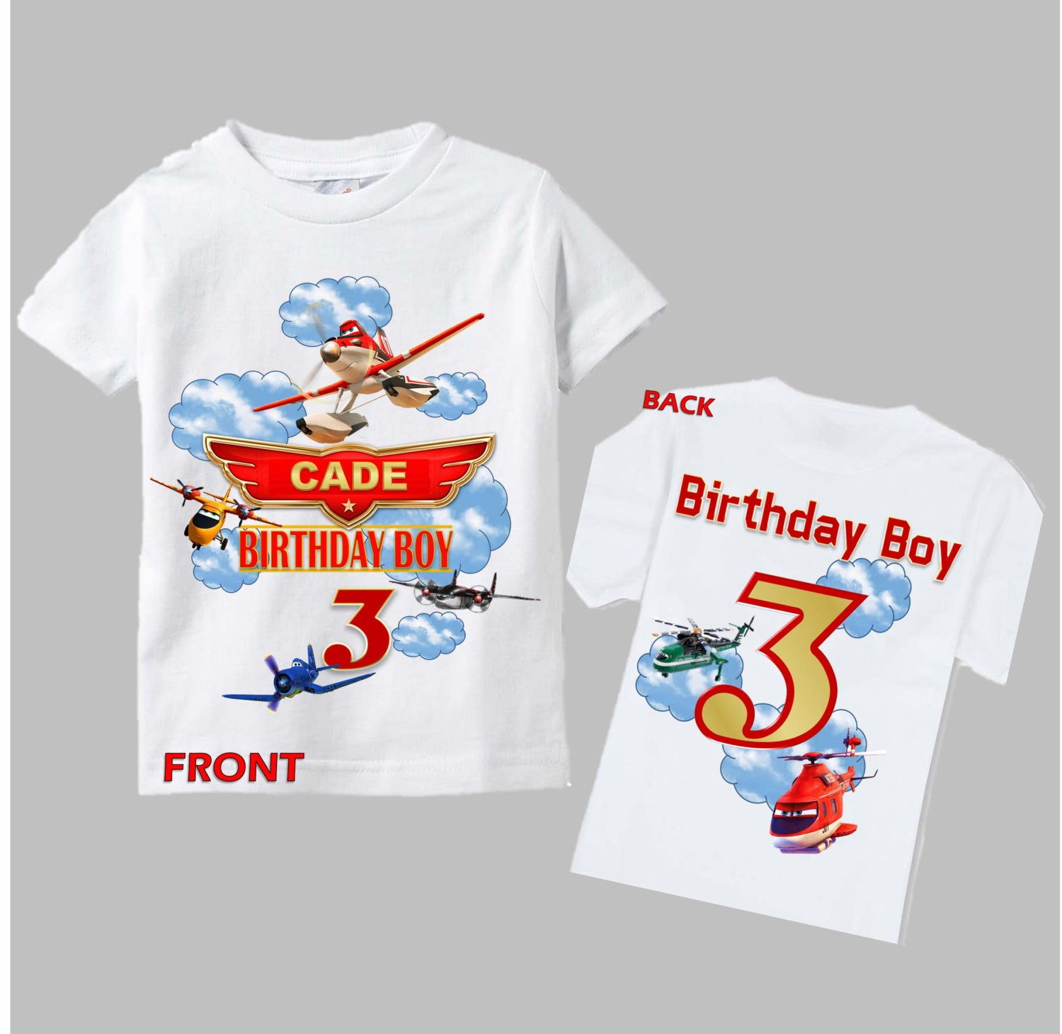 Disney Planes Birthday Shirt