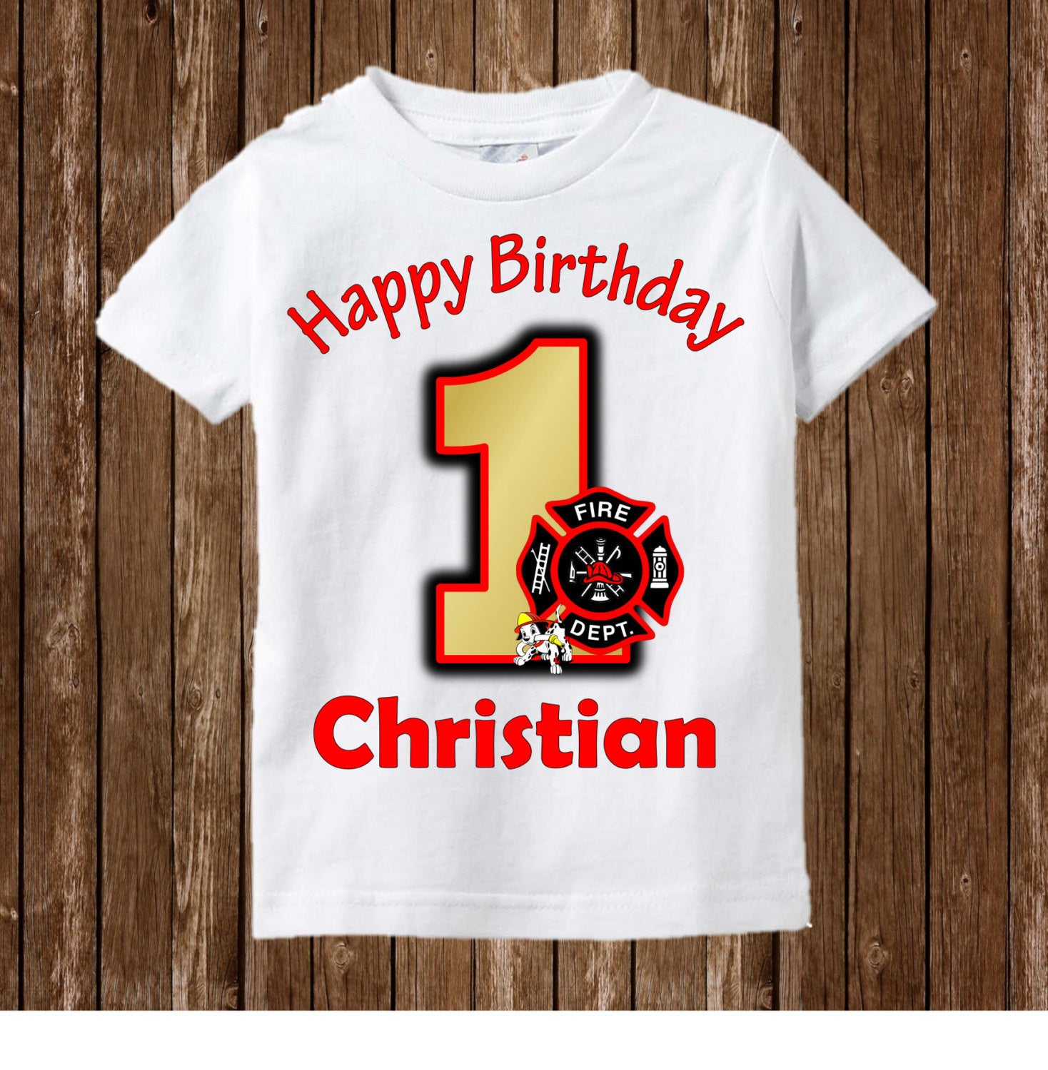 Firefighter Birthday Shirt