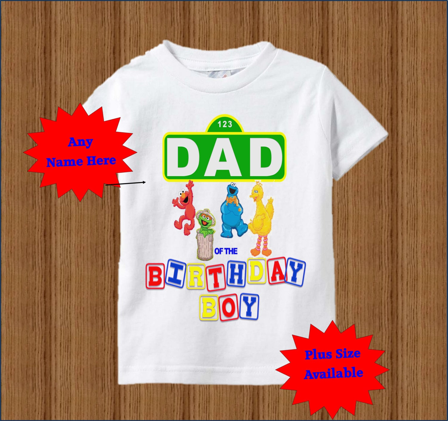 Sesame Street Dad Shirt