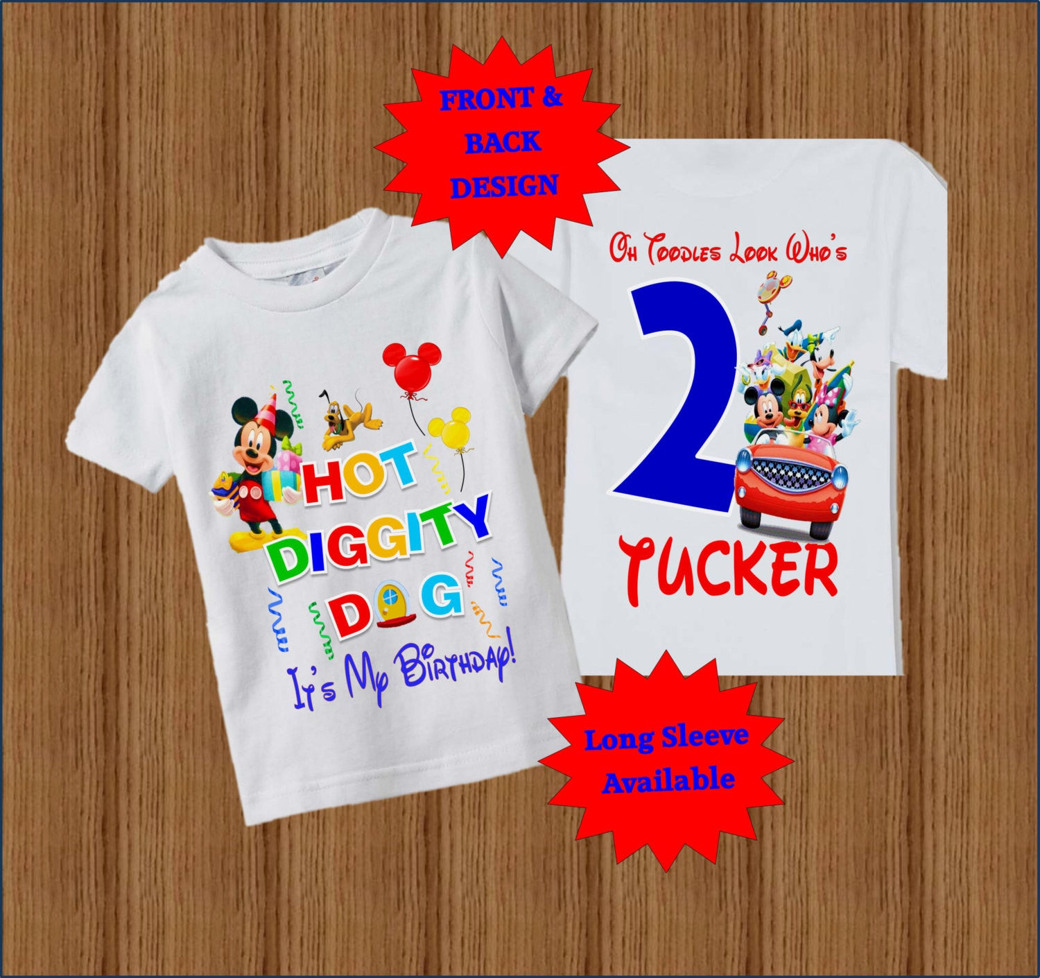 Mickey Mouse Birthday Shirts For Toddlers