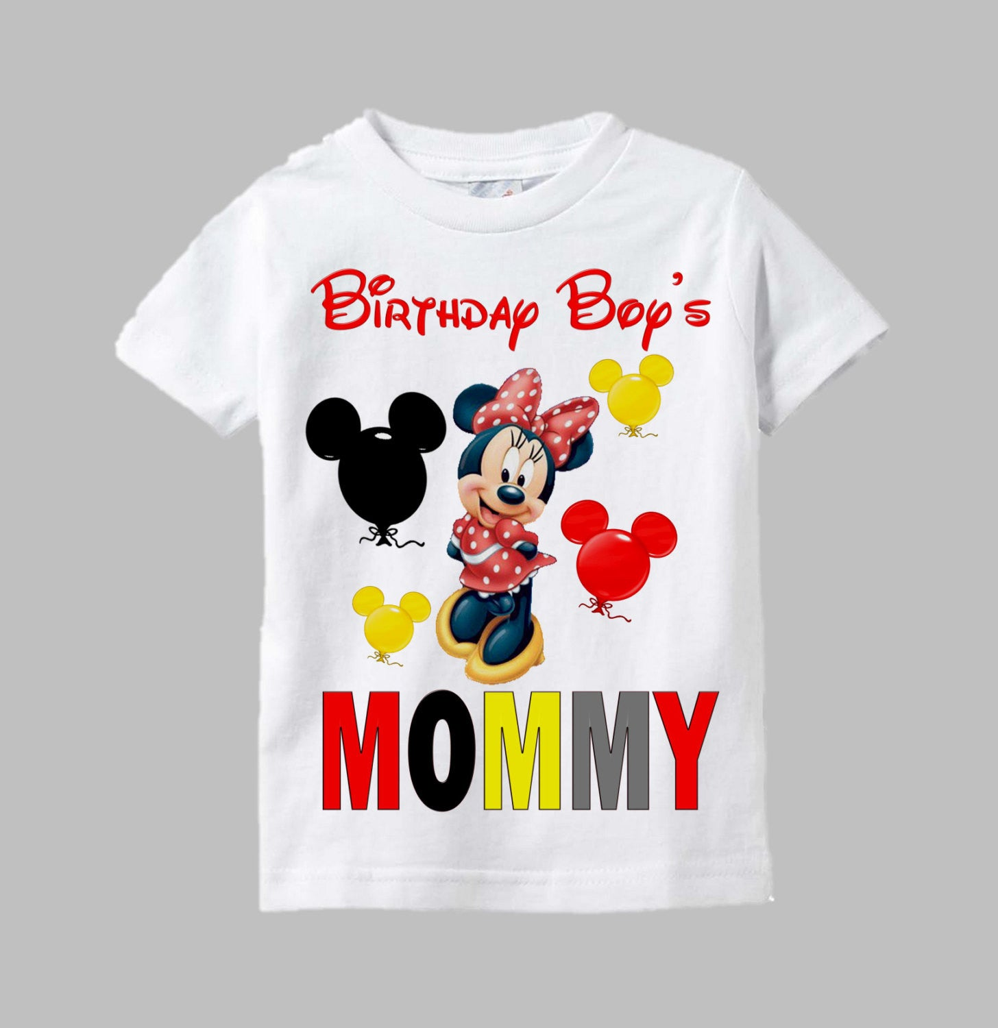 Mickey and minnie mouse birthday shirts