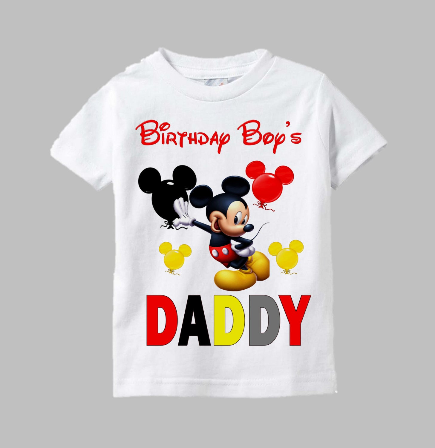Mickey Mouse Birthday Boy Shirts