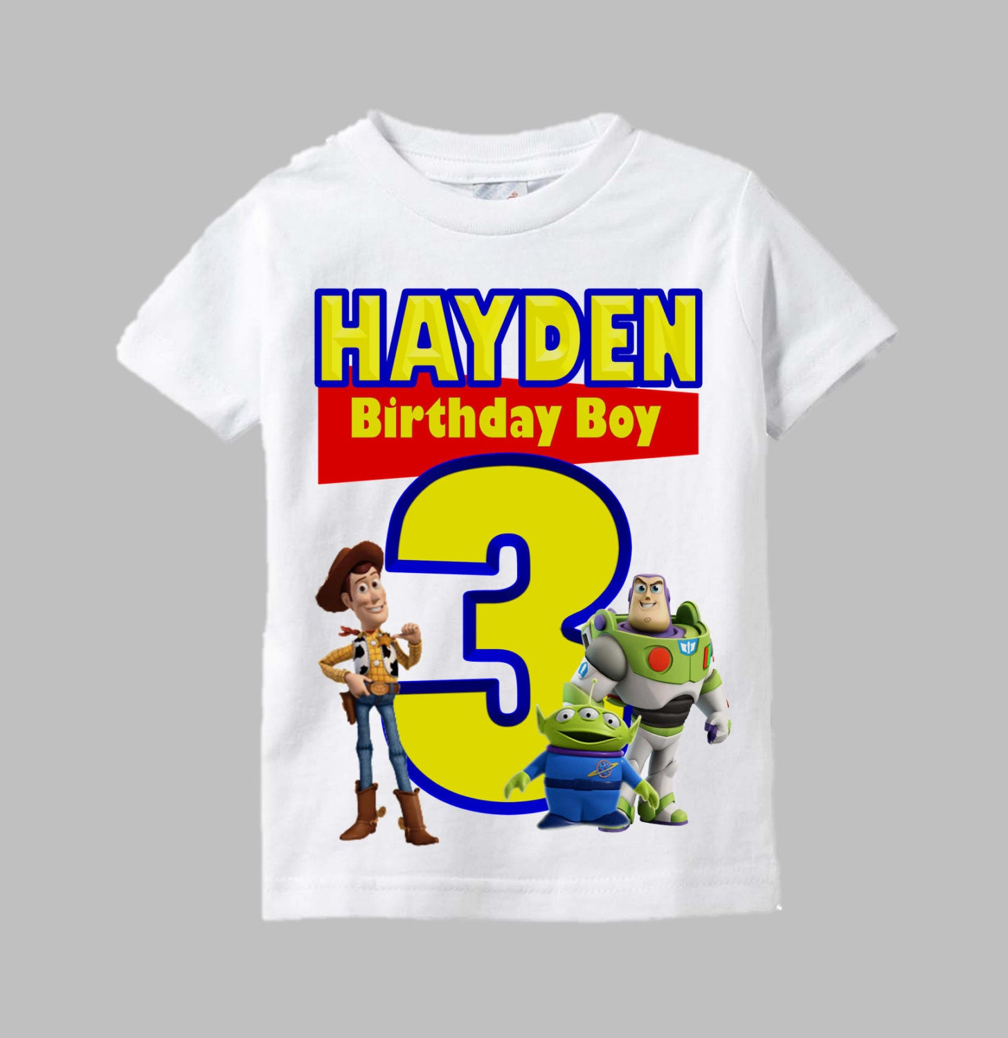88a0066071f10 Toy Story Birthday Shirt - Toy Story Shirt with Woody and Buzz