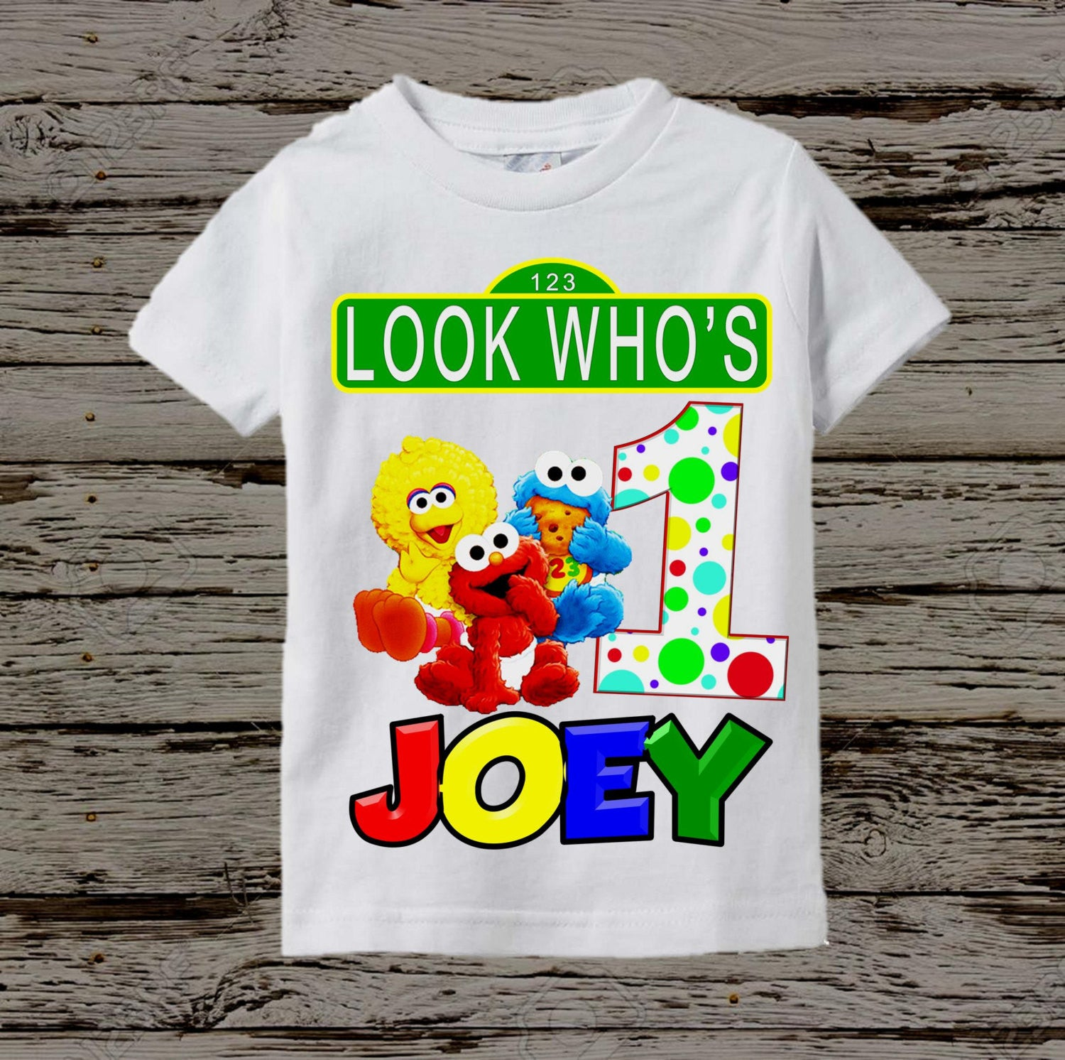 Sesame Street Birthday Shirt Clothing