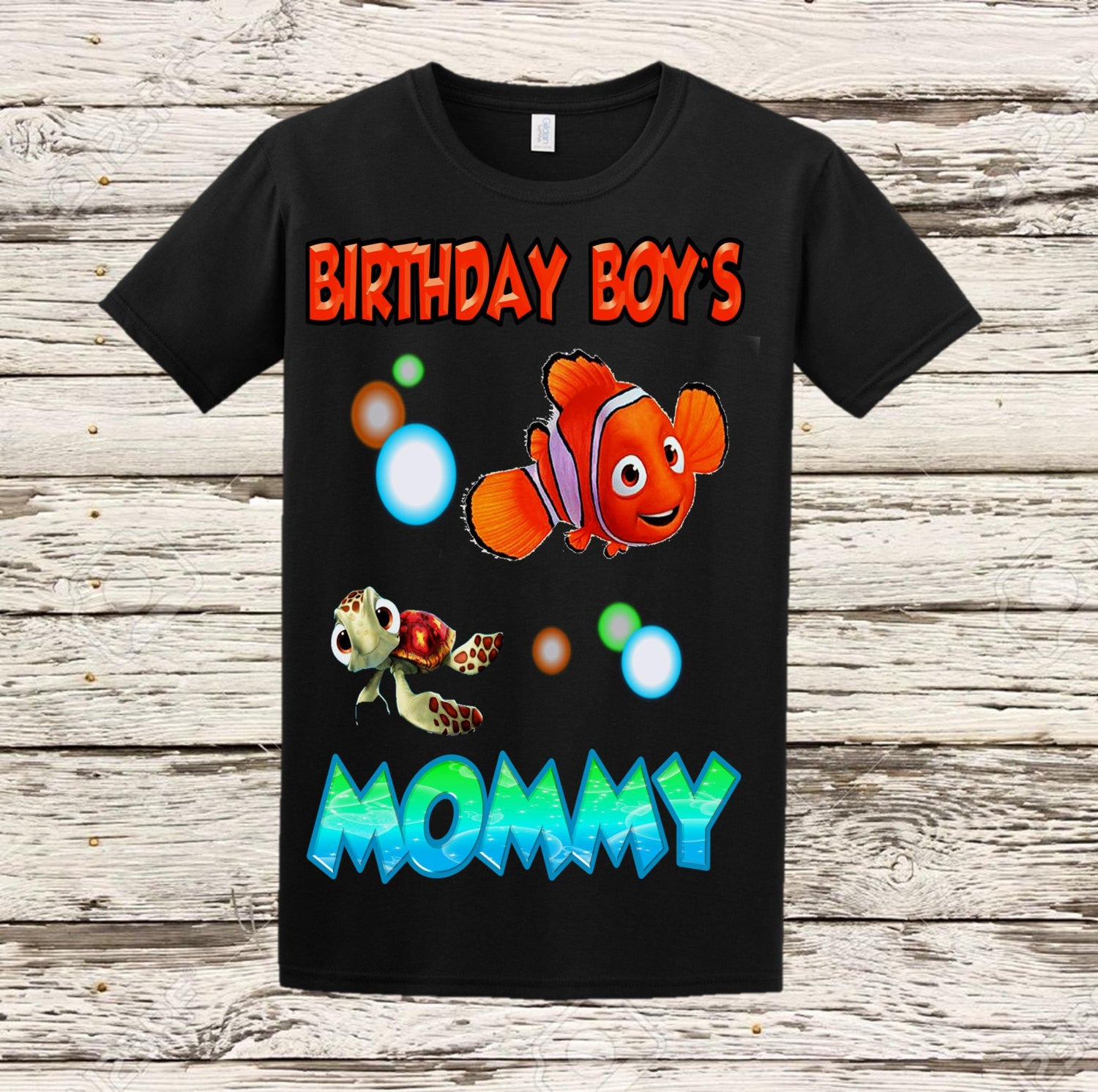 Finding Nemo Birthday Mom Shirt