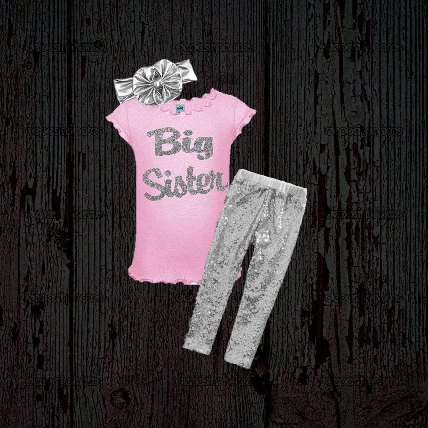 788e71646 Big Sister Outfit - Sister Announcement Shirt - New Baby Announcement - Big  Sister - Pink