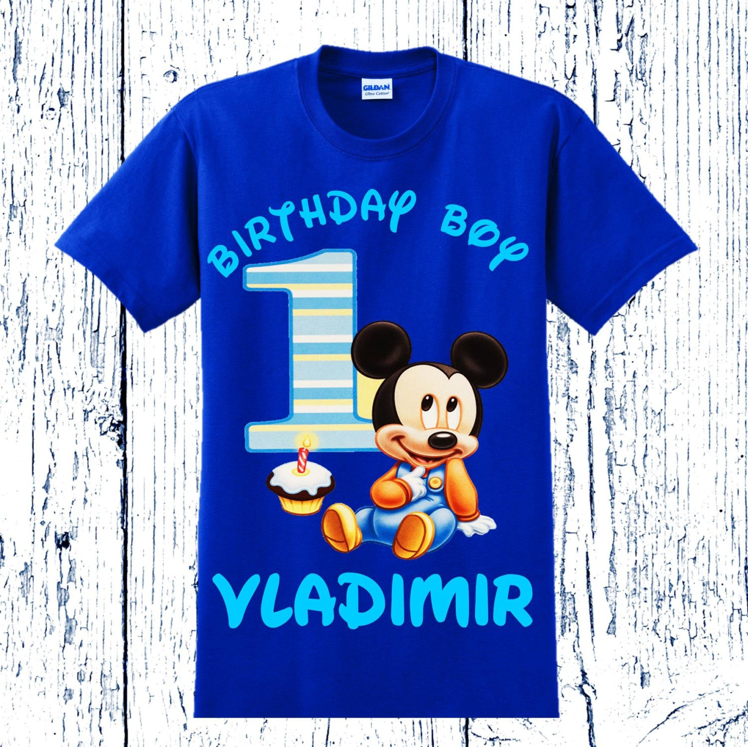 Mickey Mouse First Birthday Shirt ...