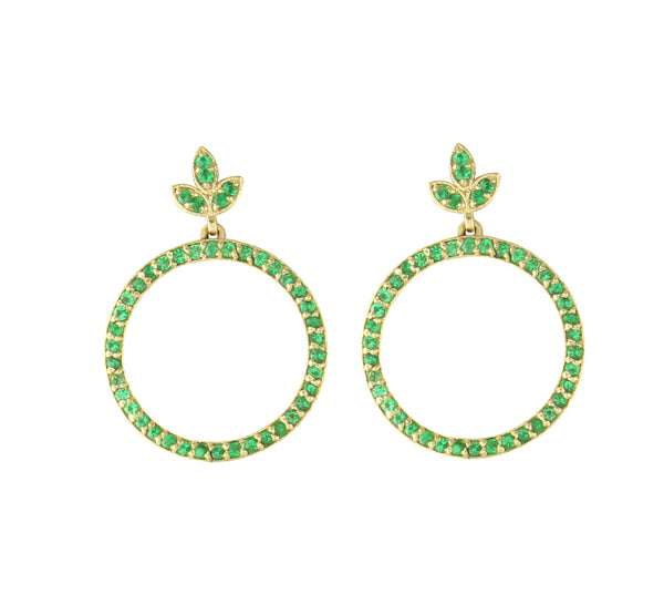 Olive Emerald Hoops