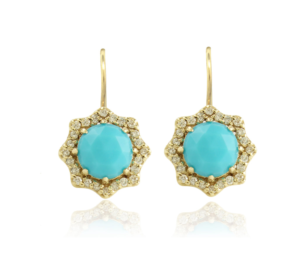 Turquoise LilyBud Earrings
