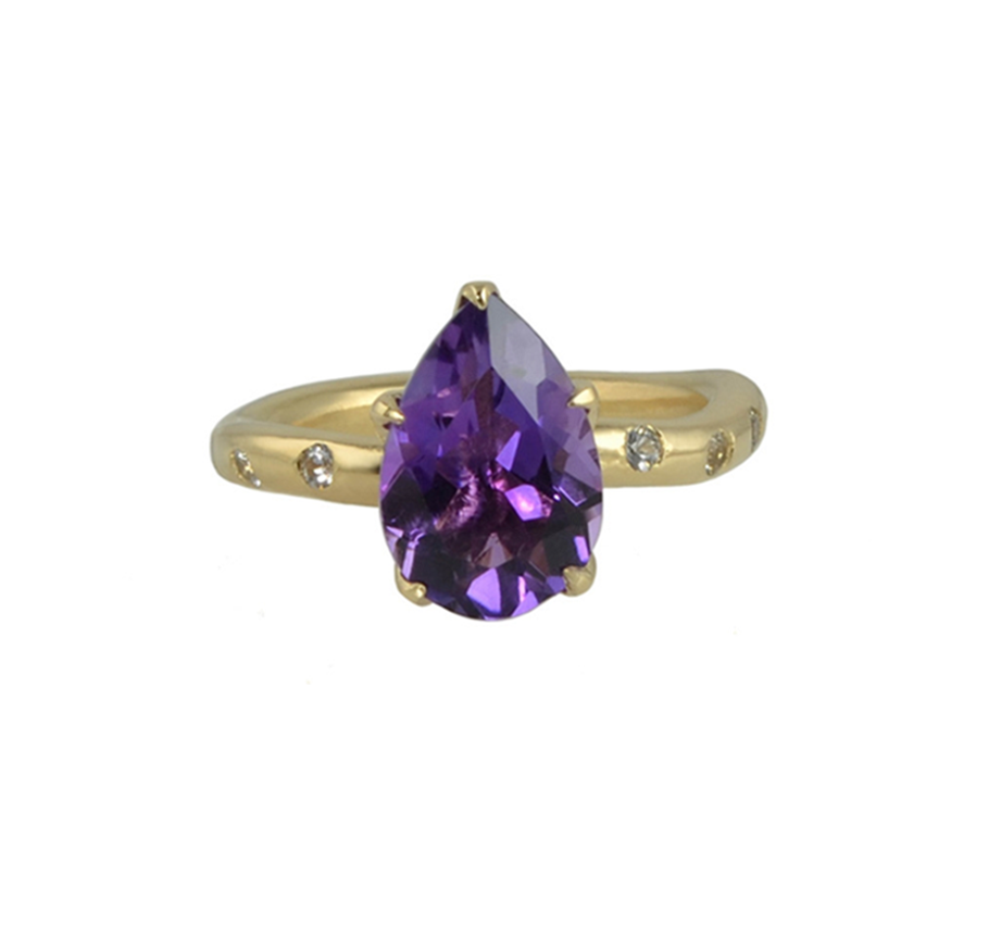 Olive Amethyst Ring