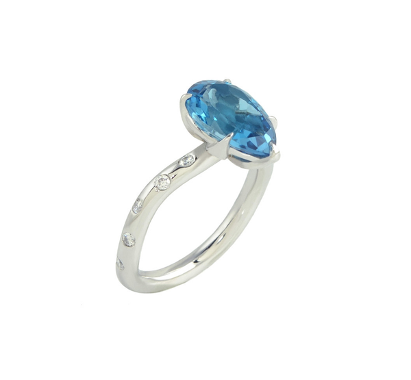 Olive London Blue Topaz Ring
