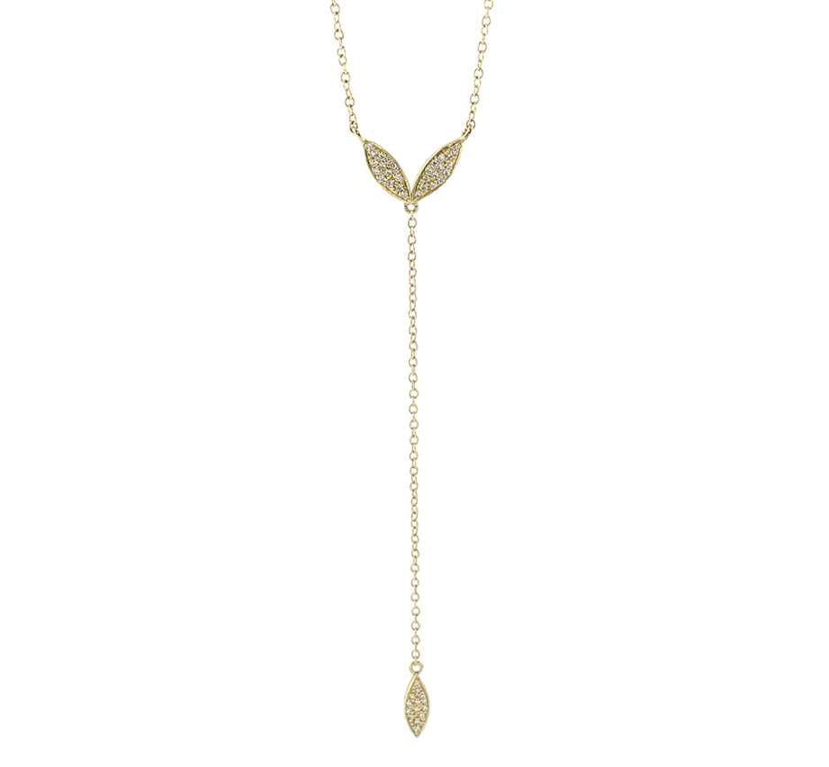 Olive Diamond Lariat