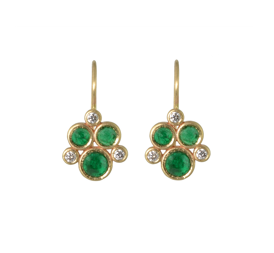 Poppy (Emerald & Diamonds) Earrings