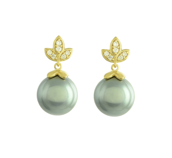 Eden (Tahitian Grey Pearl) Earrings
