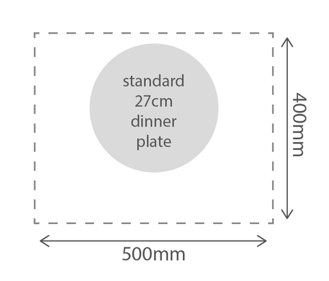 dining table size diagram