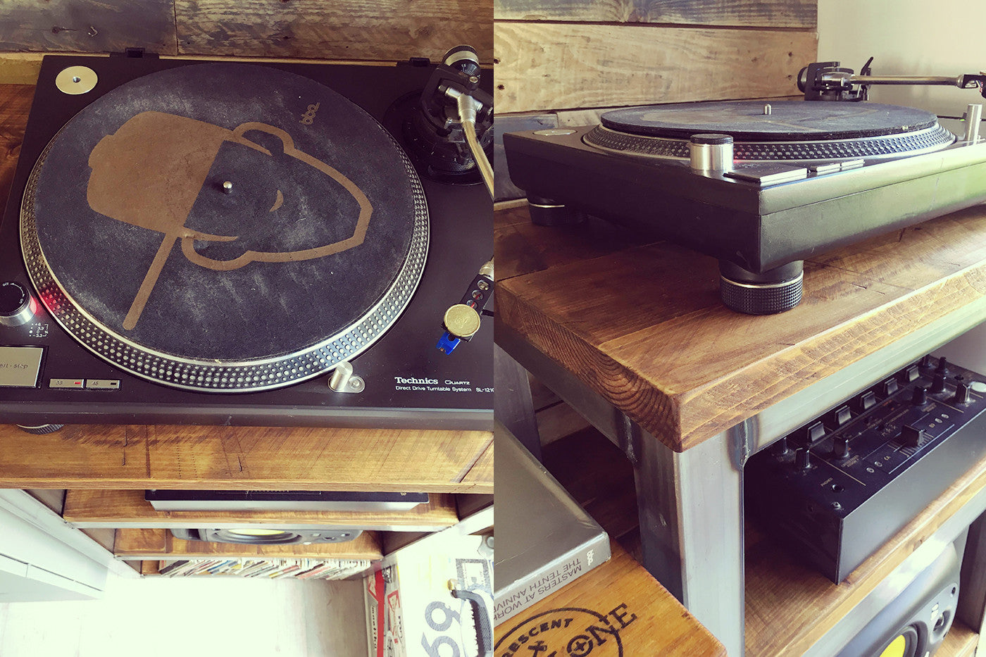 Industrial turntable and vinyl stand - Crescent Fifty One