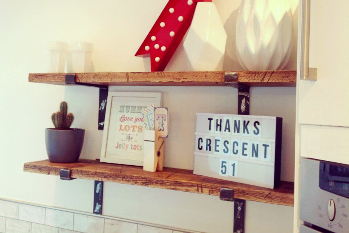 Industrial Kitchen Shelves - Crescent Fifty One