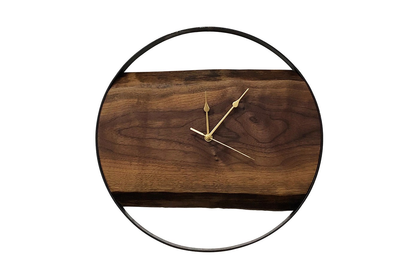 Industrial Walnut Clock
