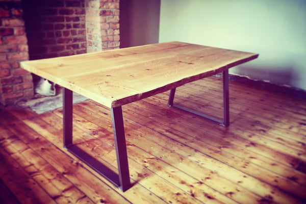 huge industrial dining table