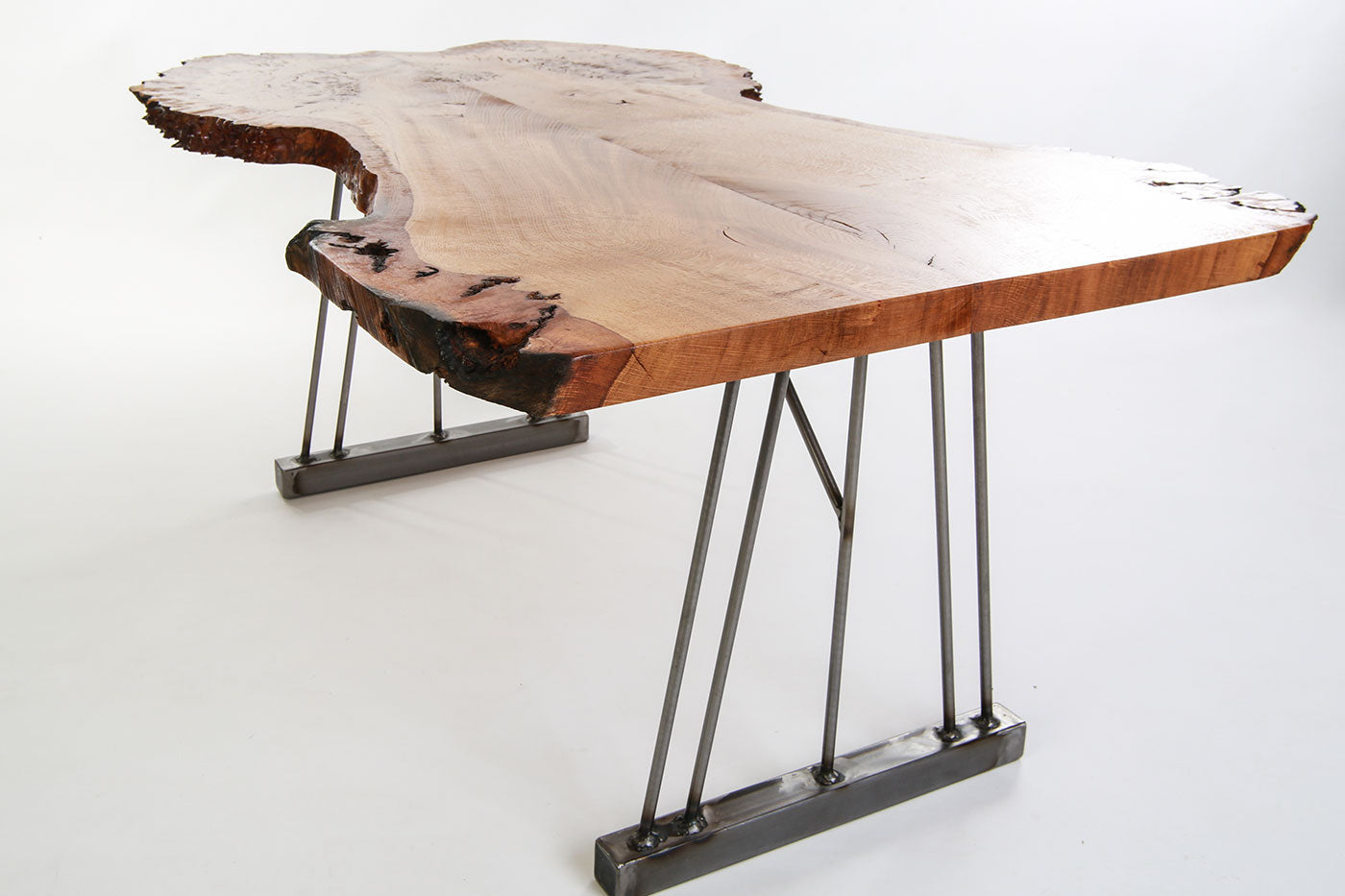 Live Edge Oak Burr Coffee Table - Crescent Fifty One