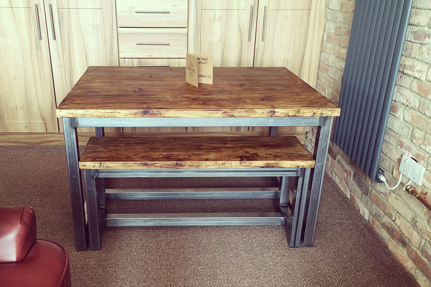 Industrial Dining Table - Crescent Fifty One
