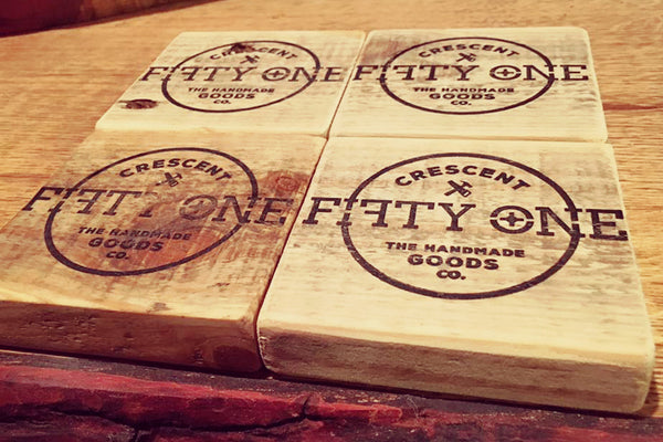 Pallett Wood Coasters - Crescent Fifty One